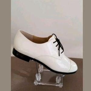 Michael Kors  Ivory Leather Oxford Dress 6.5